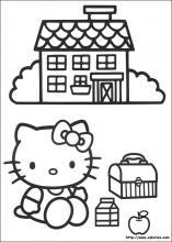 coloriage d'une école primaire