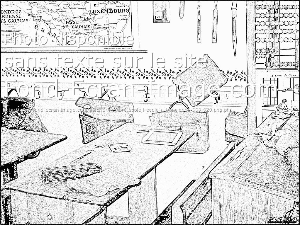 coloriage école autrefois