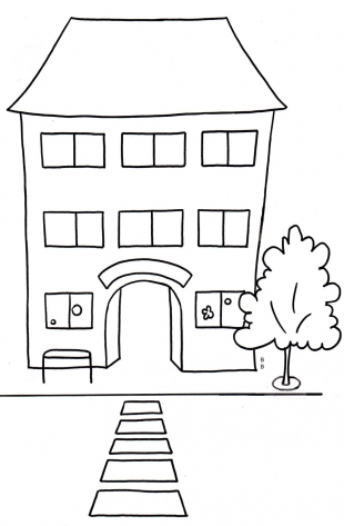 coloriage l'école crinoline