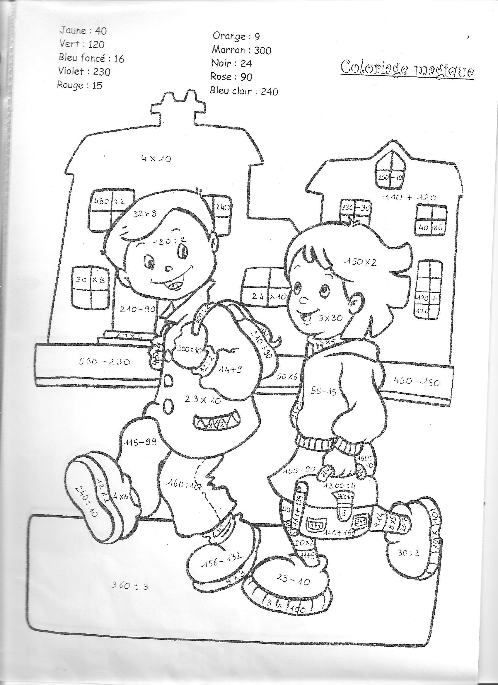 Coloriage pour ecole maternelle - Dessin de classe d ecole ...