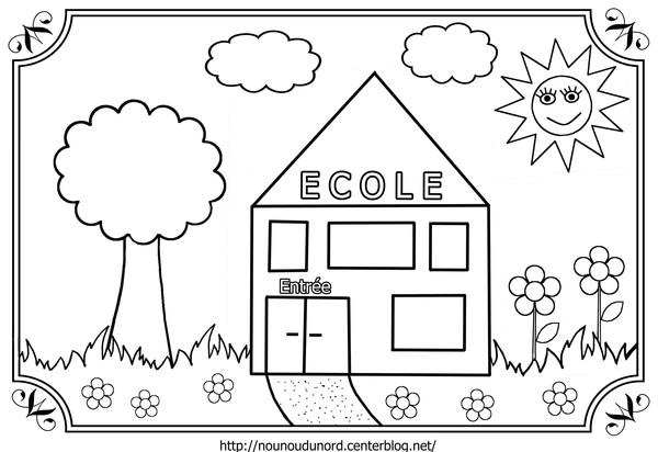 coloriage à imprimer école