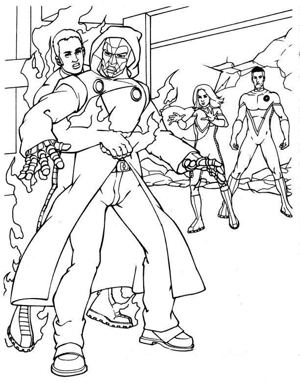 dessin des 4 fantastiques a imprimer