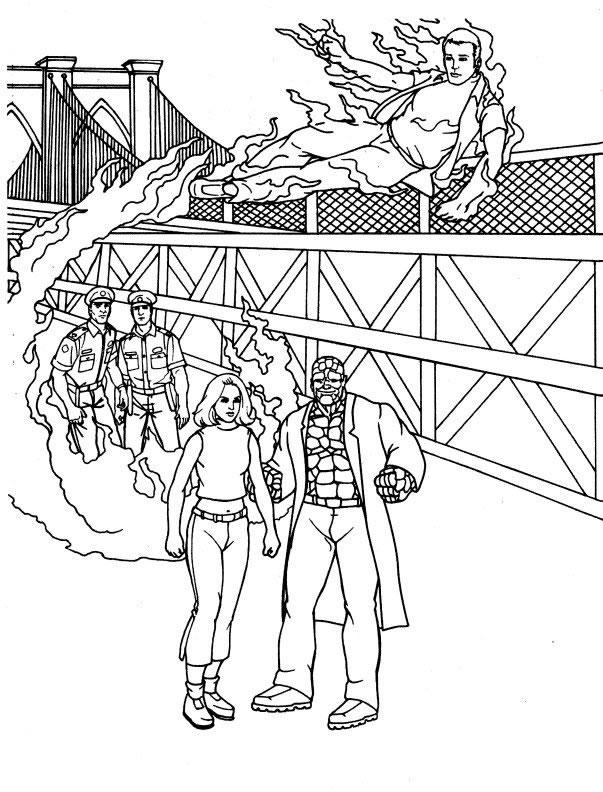 dessin 4 fantastiques imprimer