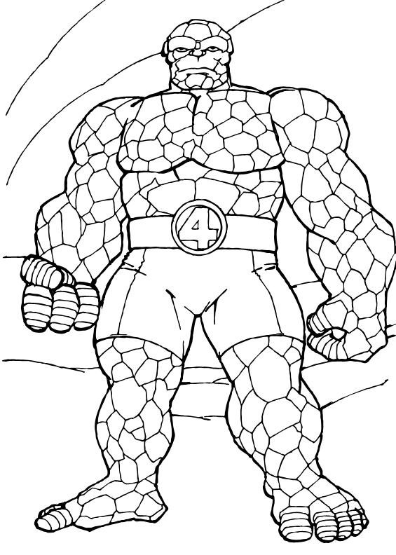 dessin à colorier gratuit 4 fantastiques