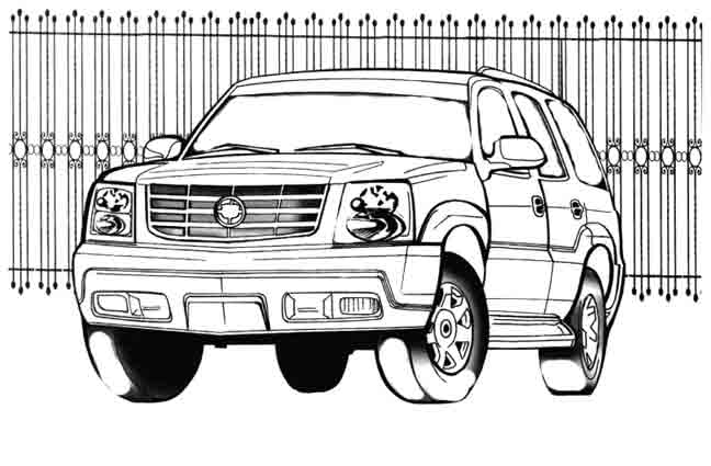 coloriage � dessiner 4x4 hot wheels