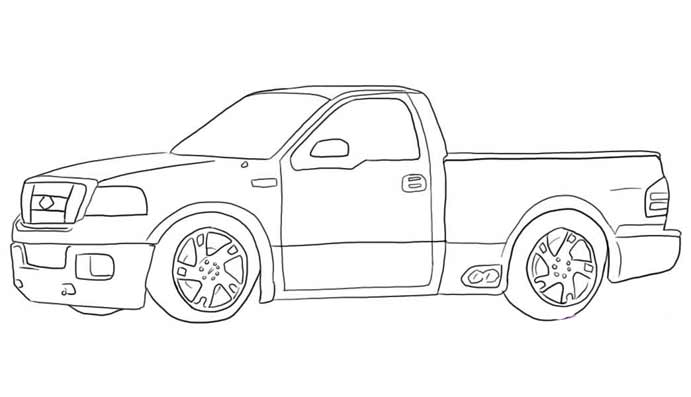 coloriage 4x4 tuning