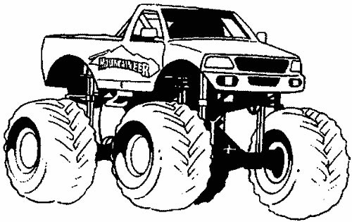 dessin à colorier voiture 4x4