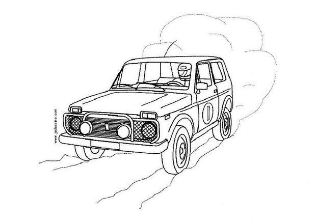 dessin 4x4 pompier