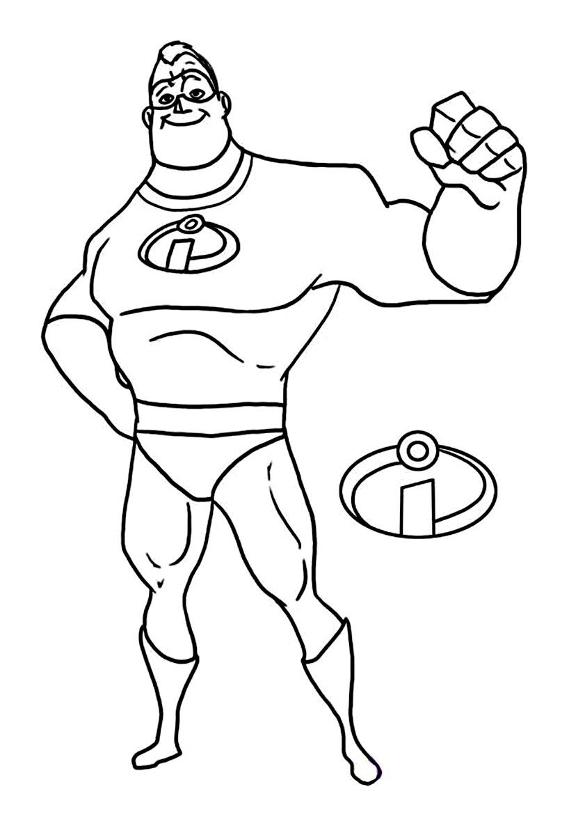20 dessins de coloriage a imprimer les indestructibles gratuit imprimer - Dessin des indestructibles ...
