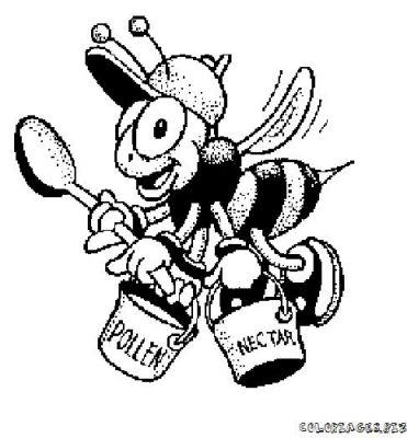 98 dessins de coloriage abeille imprimer gratuit imprimer - Abeille coloriage ...