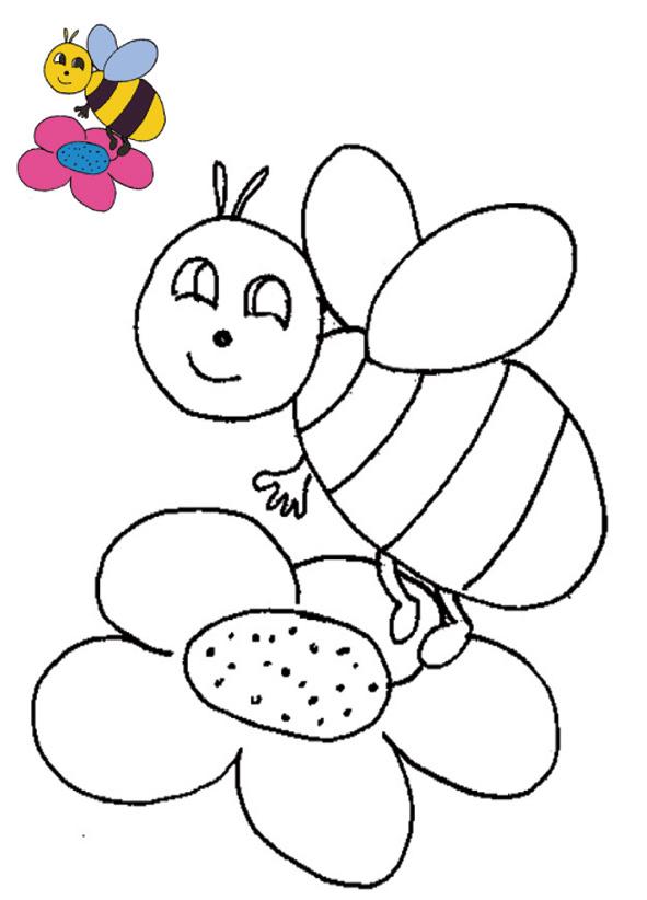 coloriage mandala abeille