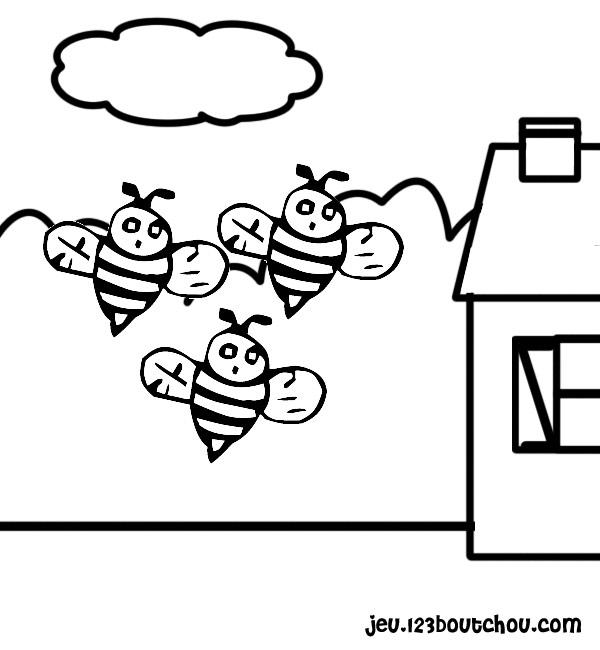coloriage abeille gratuit