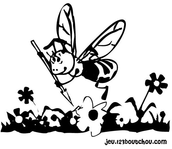 coloriage à dessiner magique maya l'abeille