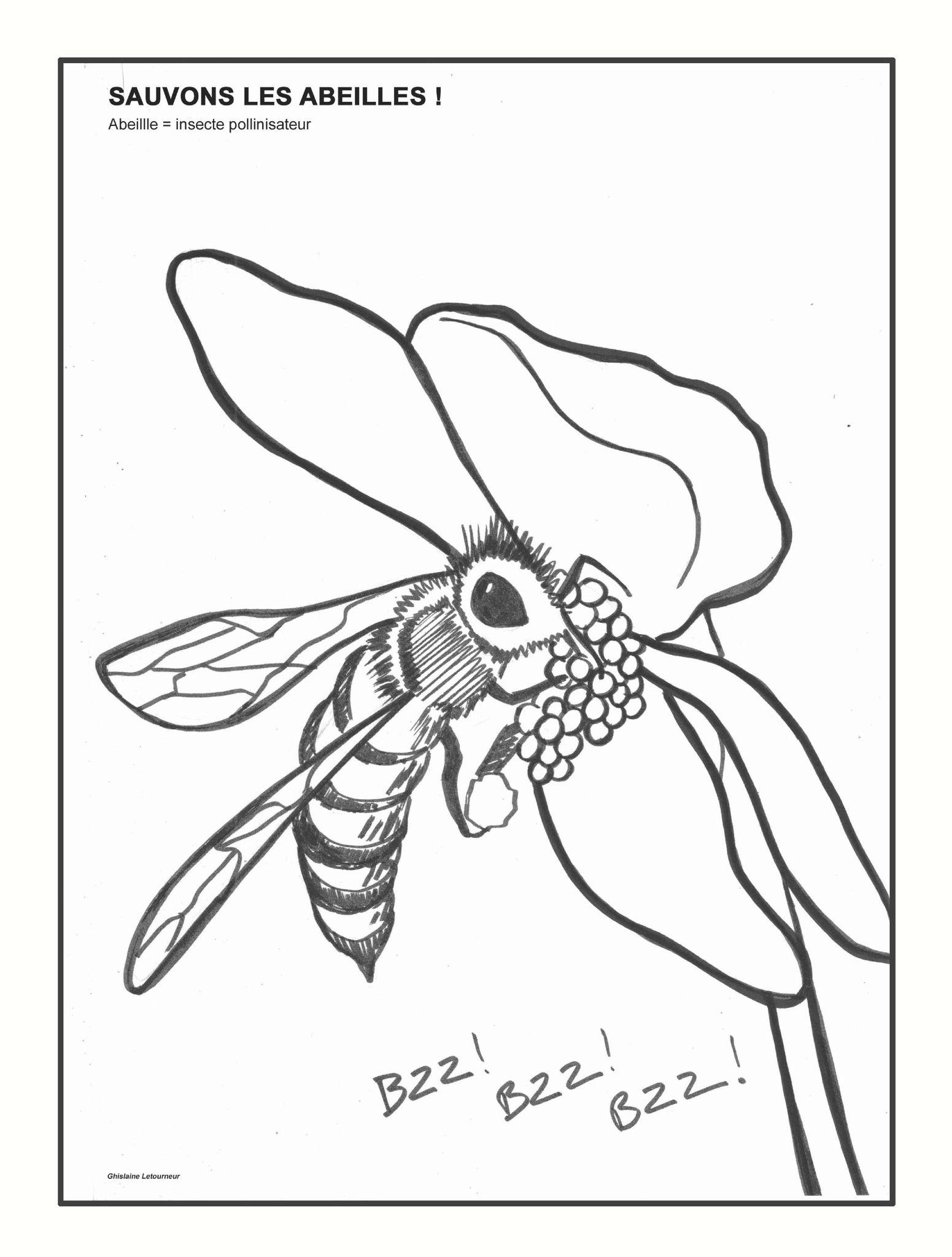 Dessin de ruche coloriage - Coloriage d abeille ...