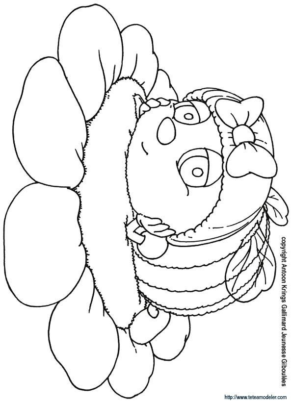 Coloriage dessiner abeille ruche - Dessin de ruche d abeille ...