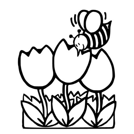 Dessin gratuit abeilles a imprimer - Abeille coloriage ...