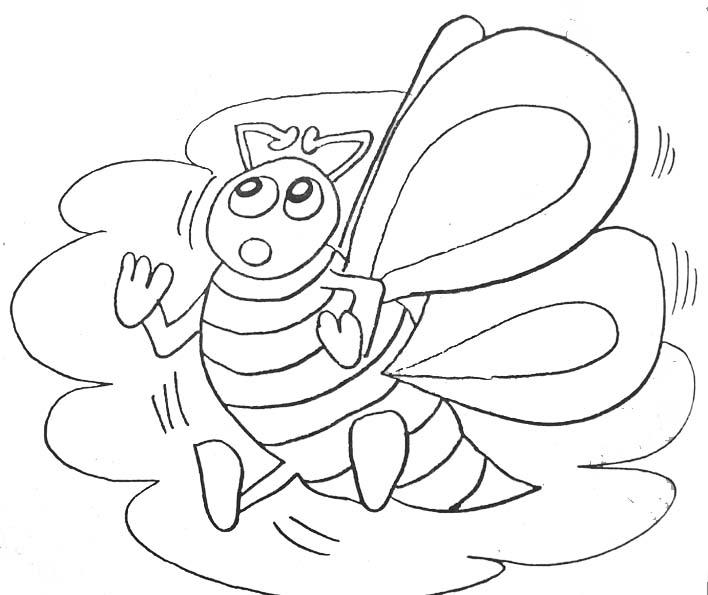coloriage d'abeille en ligne