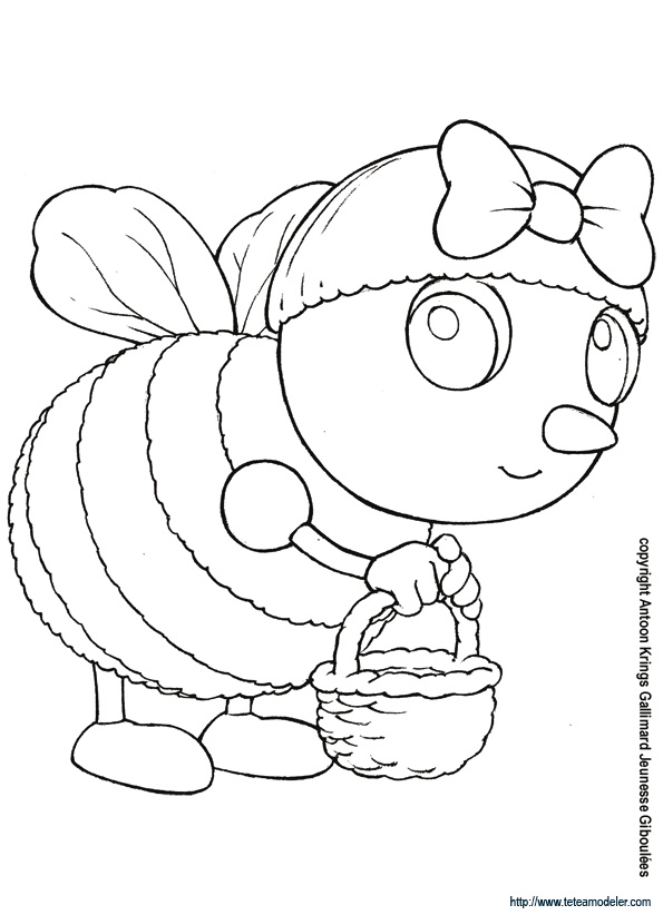 dessin abeille maya