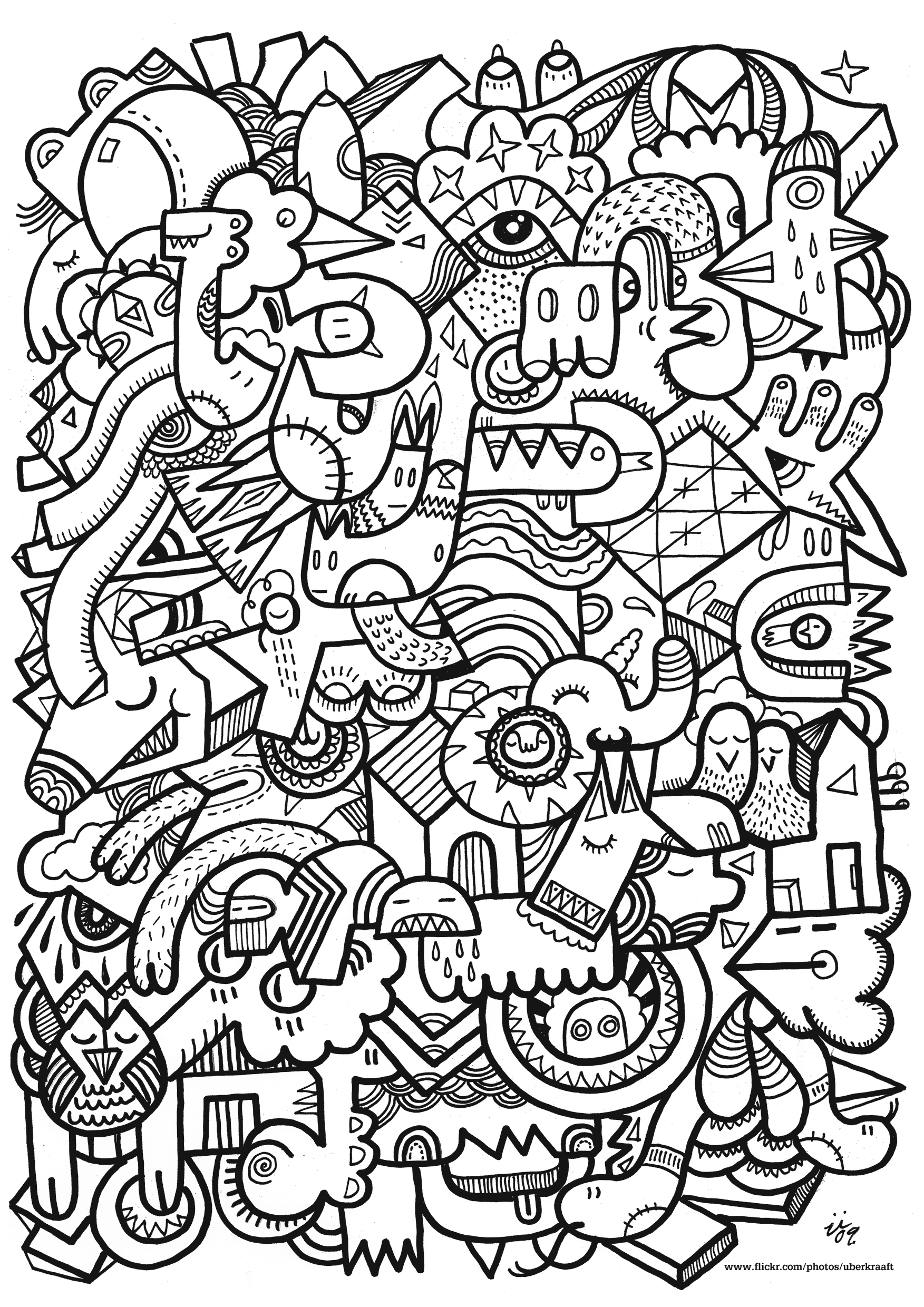 20 dessins de coloriage adulte anti stress imprimer - Coloriage anti stress a imprimer ...