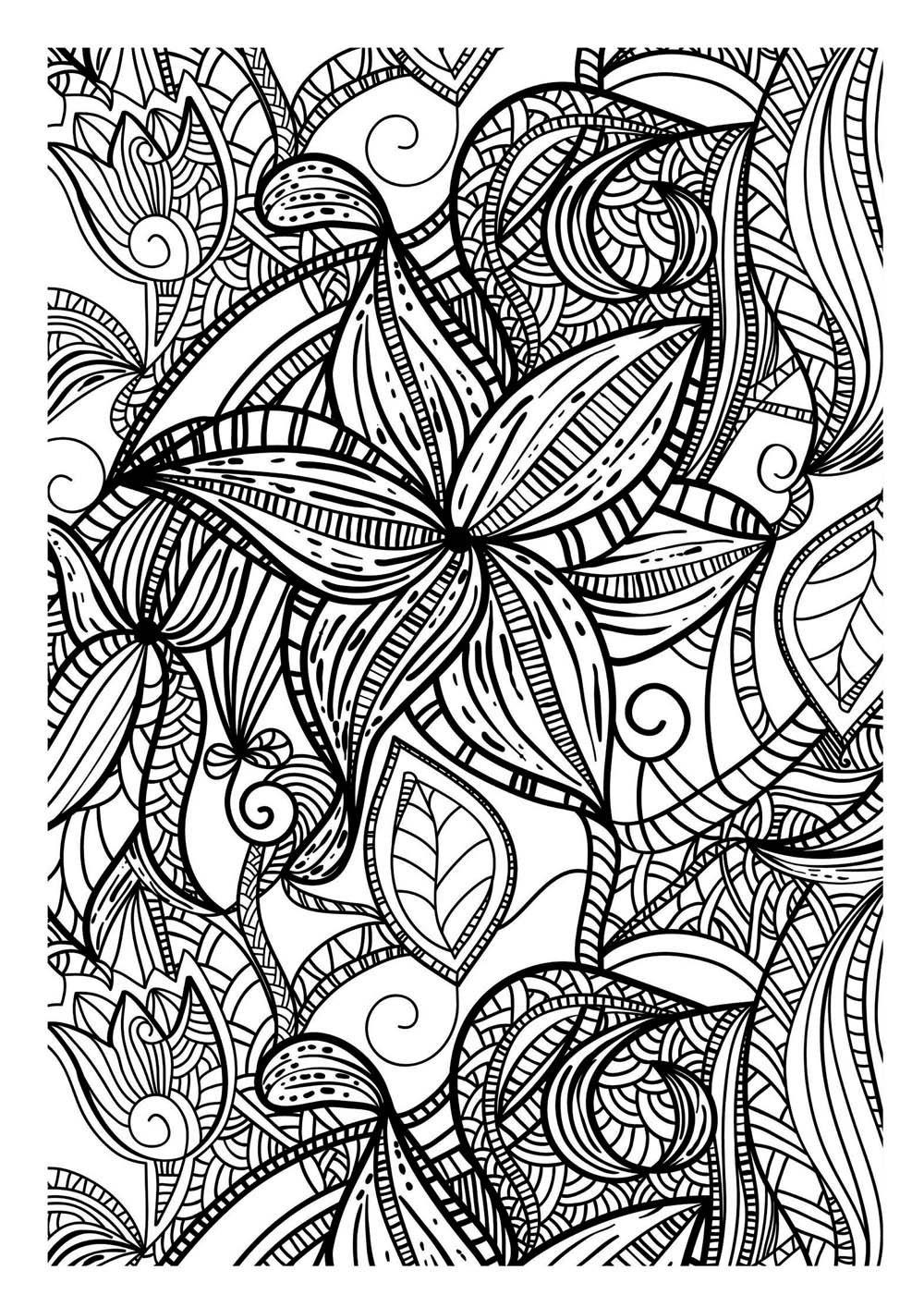 20 dessins de coloriage Adulte Difficile à imprimer