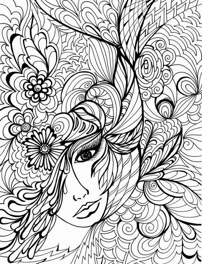 20 dessins de coloriage adulte livre imprimer - Coloriage destressant ...