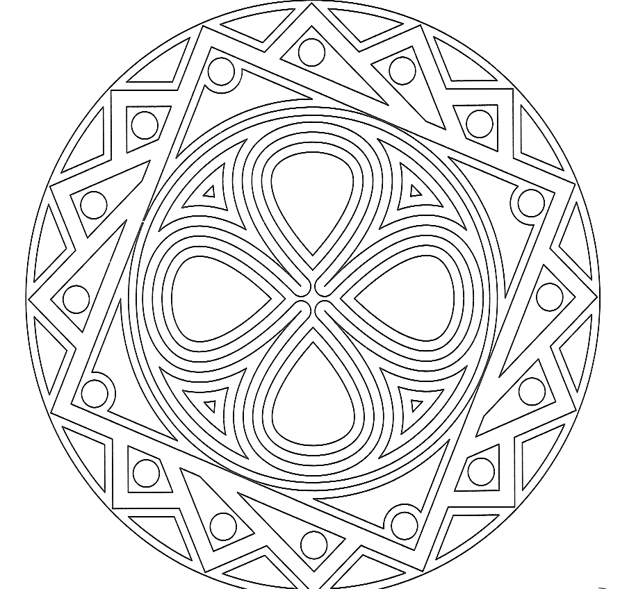 20 dessins de coloriage adulte mandala imprimer. Black Bedroom Furniture Sets. Home Design Ideas