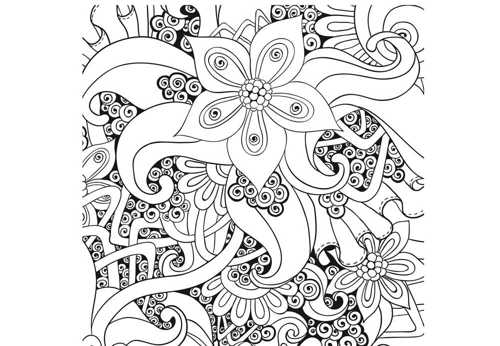 20 dessins de coloriage adulte paysage a imprimer imprimer - Chat a colorier adulte ...