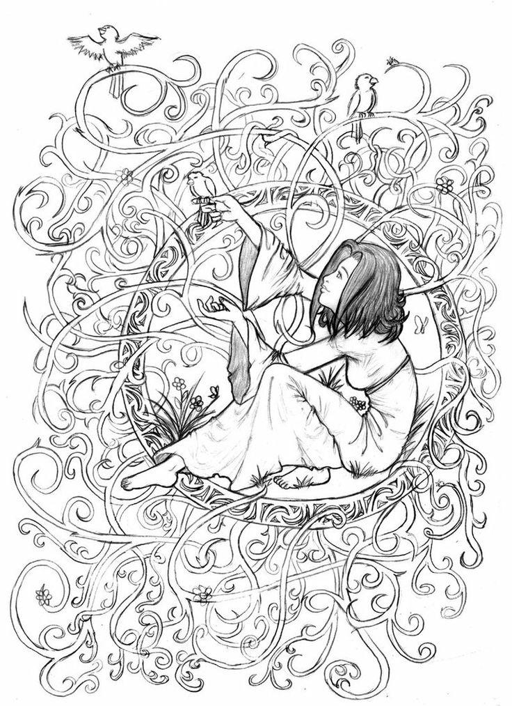 20 dessins de coloriage Adulte Paysage à imprimer