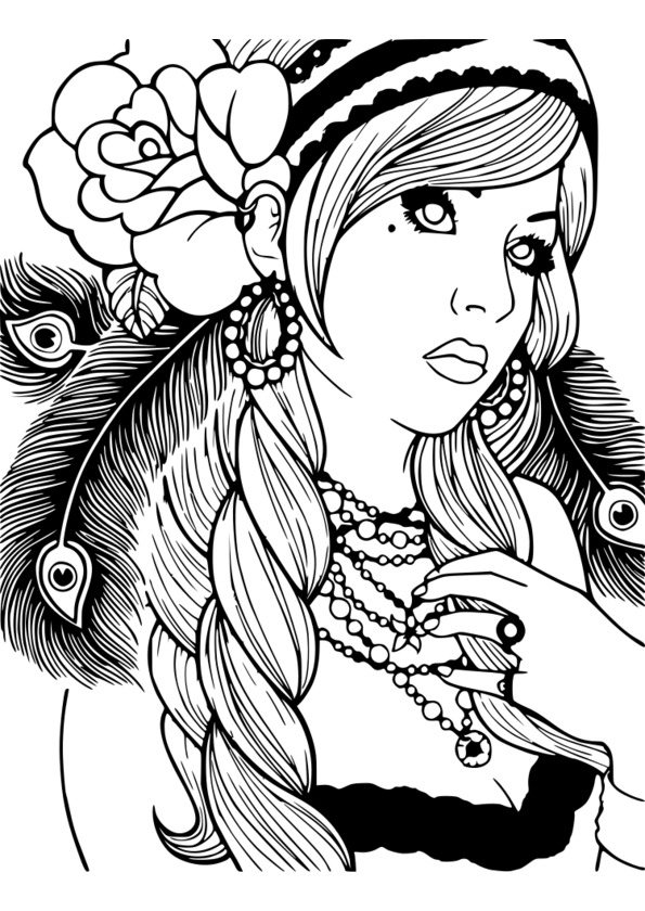 coloriage adulte modele