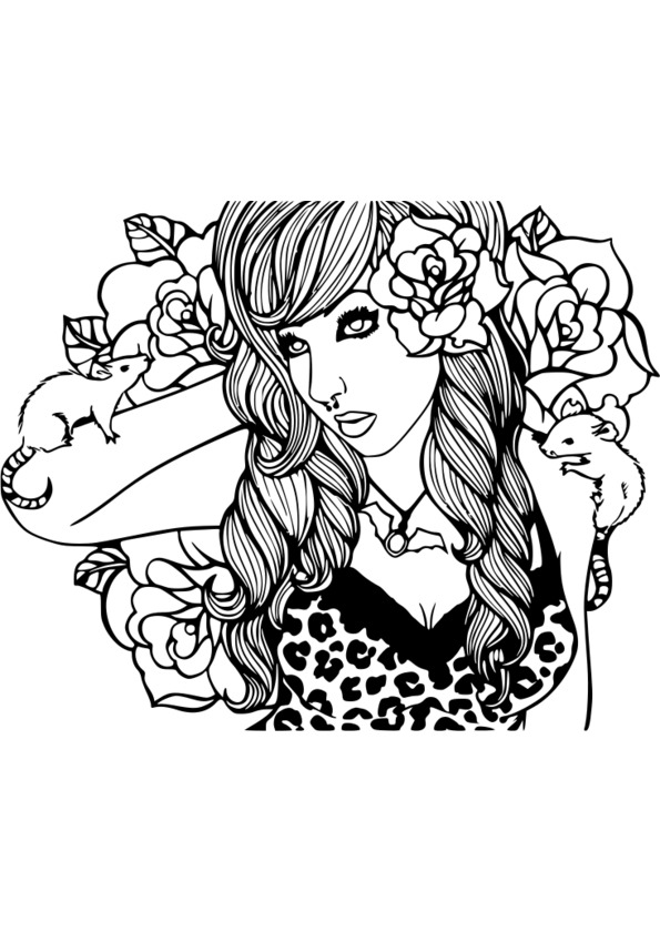 Coloriage adulte tatouage - Dessin a colorier pour adulte ...