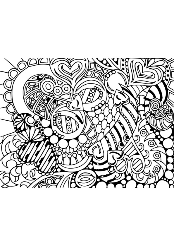 Coloriage adulte art therapie - Coloriage art ...