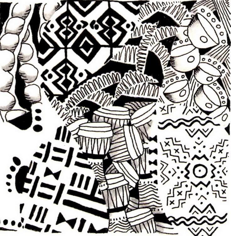 dessin à coloriers africains imprimer