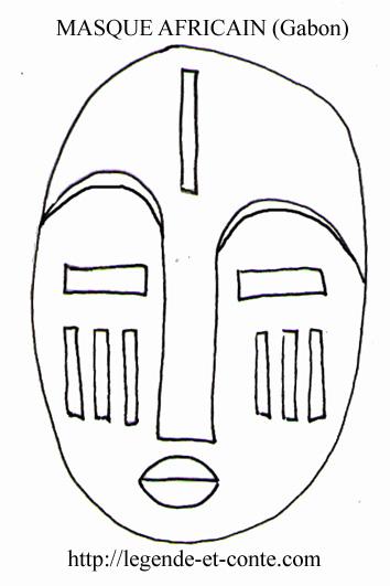 dessin visage africain