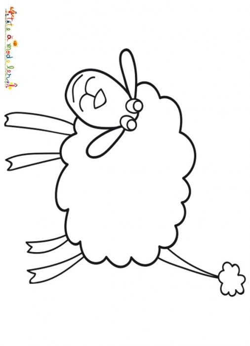 Coloriage dessiner agneau loup - Mouton a dessiner ...
