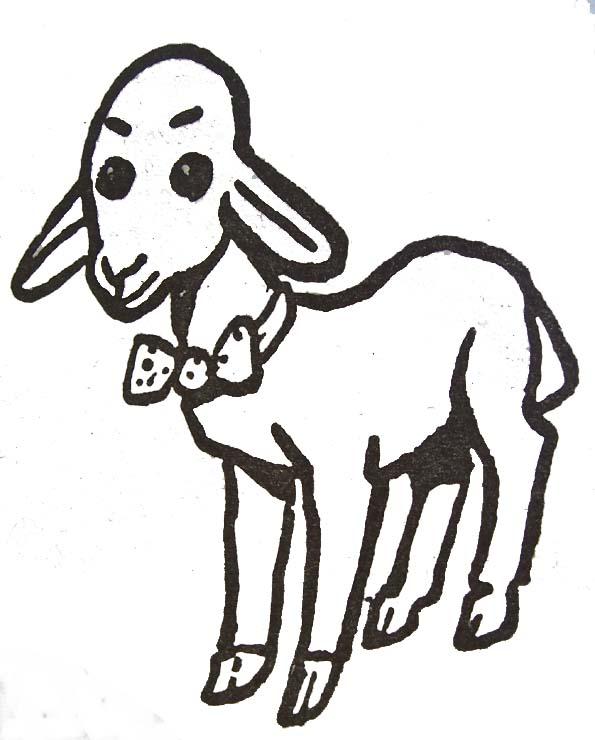 dessin agneau pascal