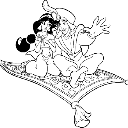 Coloriage dessiner jasmine aladin - Dessiner aladin ...