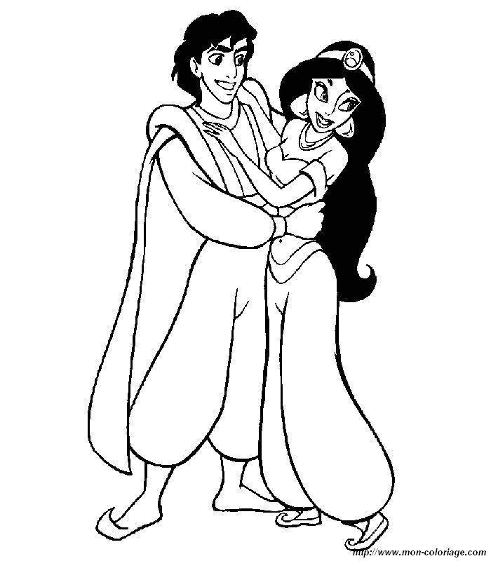 dessin à colorier palais aladdin