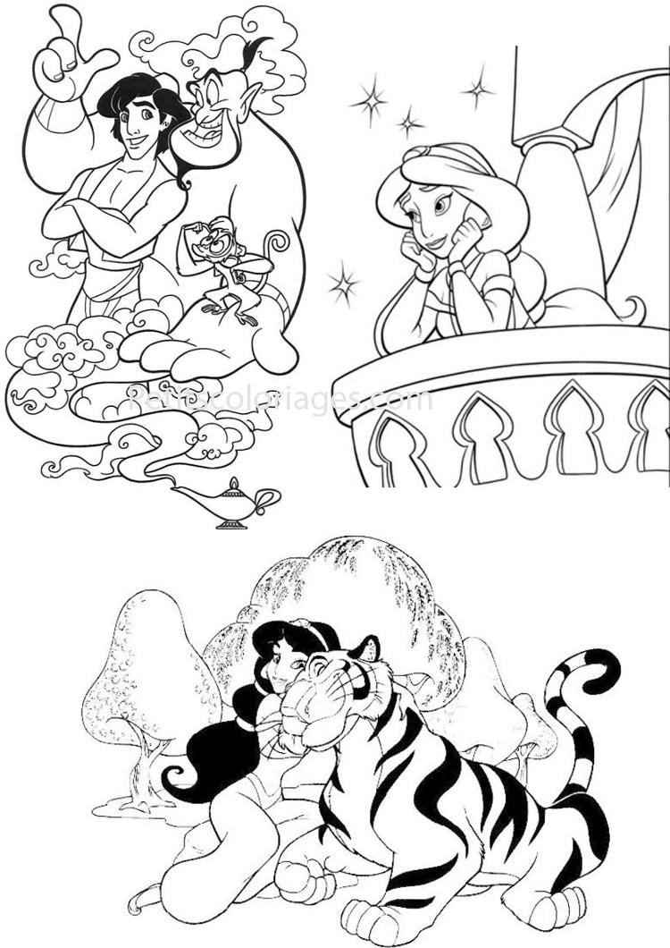 coloriage à dessiner à imprimer aladdin
