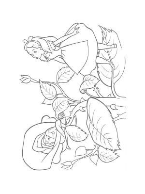 dessin gratuit alice au pays des merveilles