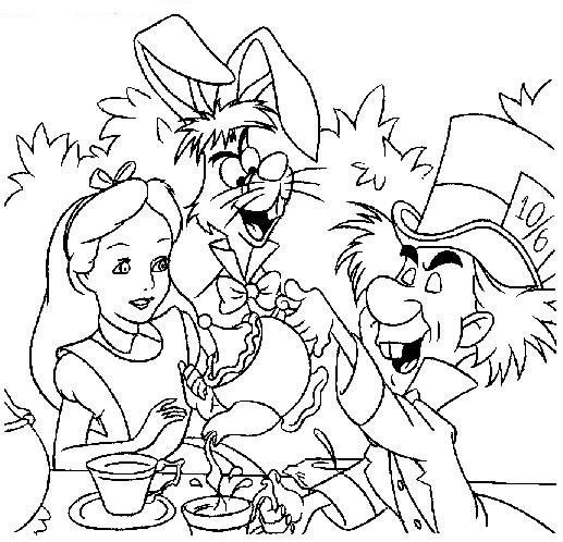 Coloriage Alice Au Pays Des Merveilles Disney
