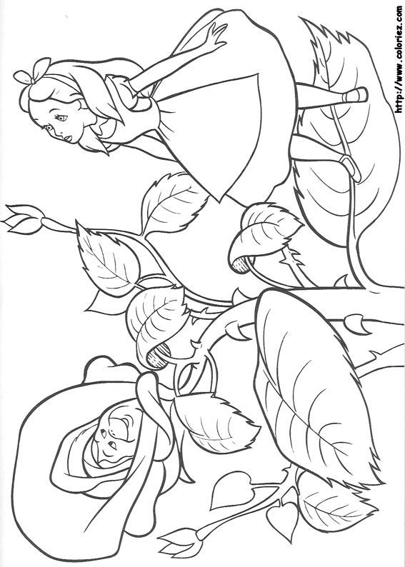 20 dessins de coloriage Alice Aux Pays Des Merveilles à ...