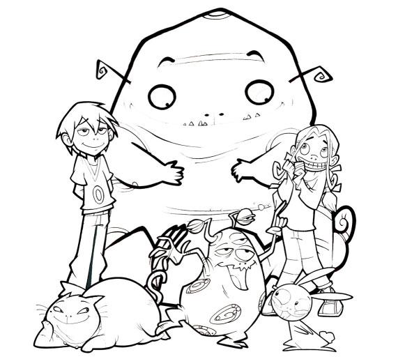 coloriage � dessiner alien bazar