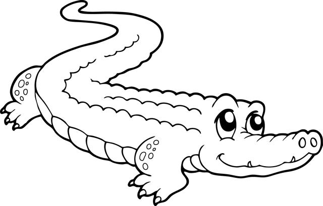 coloriage à dessiner alligator imprimer