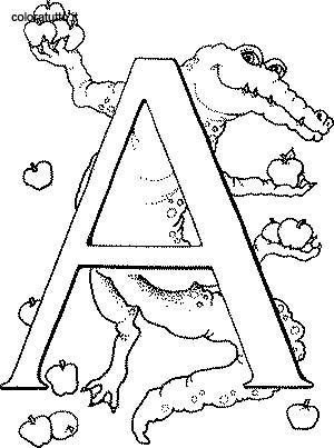 20 dessins de coloriage alphabet animaux imprimer - Coloriage alphabet animaux ...