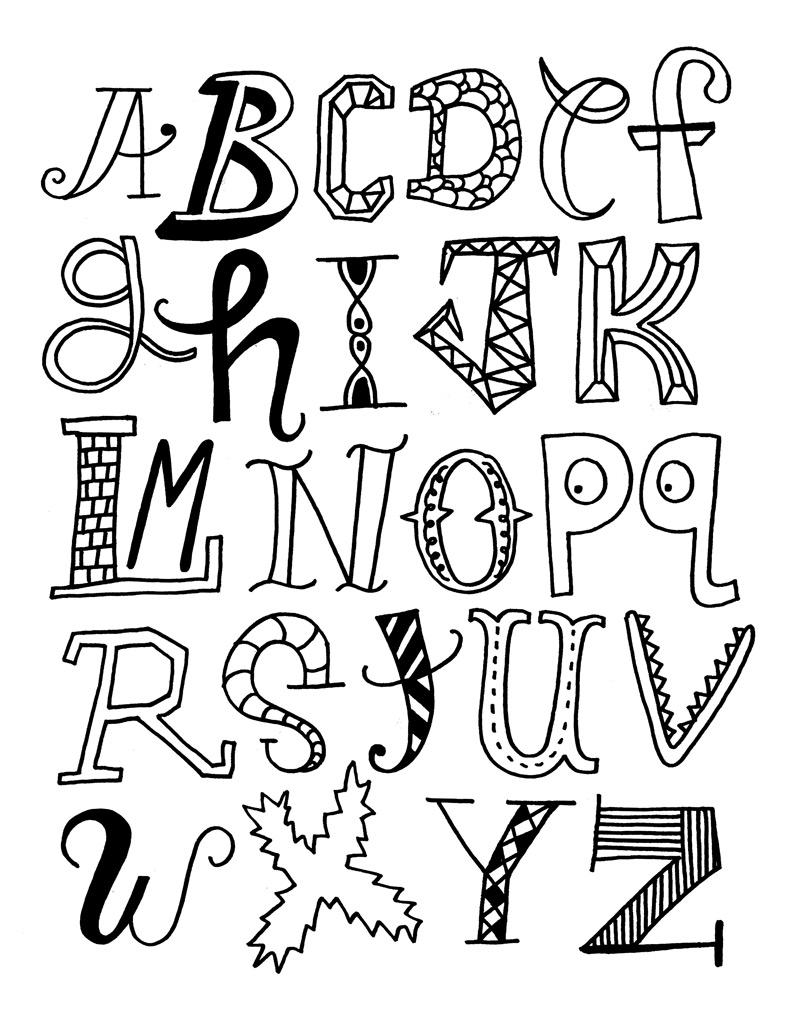 19 dessins de coloriage alphabet rigolo imprimer - Dessin alphabet ...