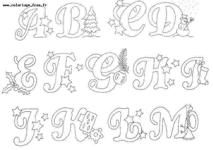 Coloriage alphabet princesse - Dessin alphabet ...