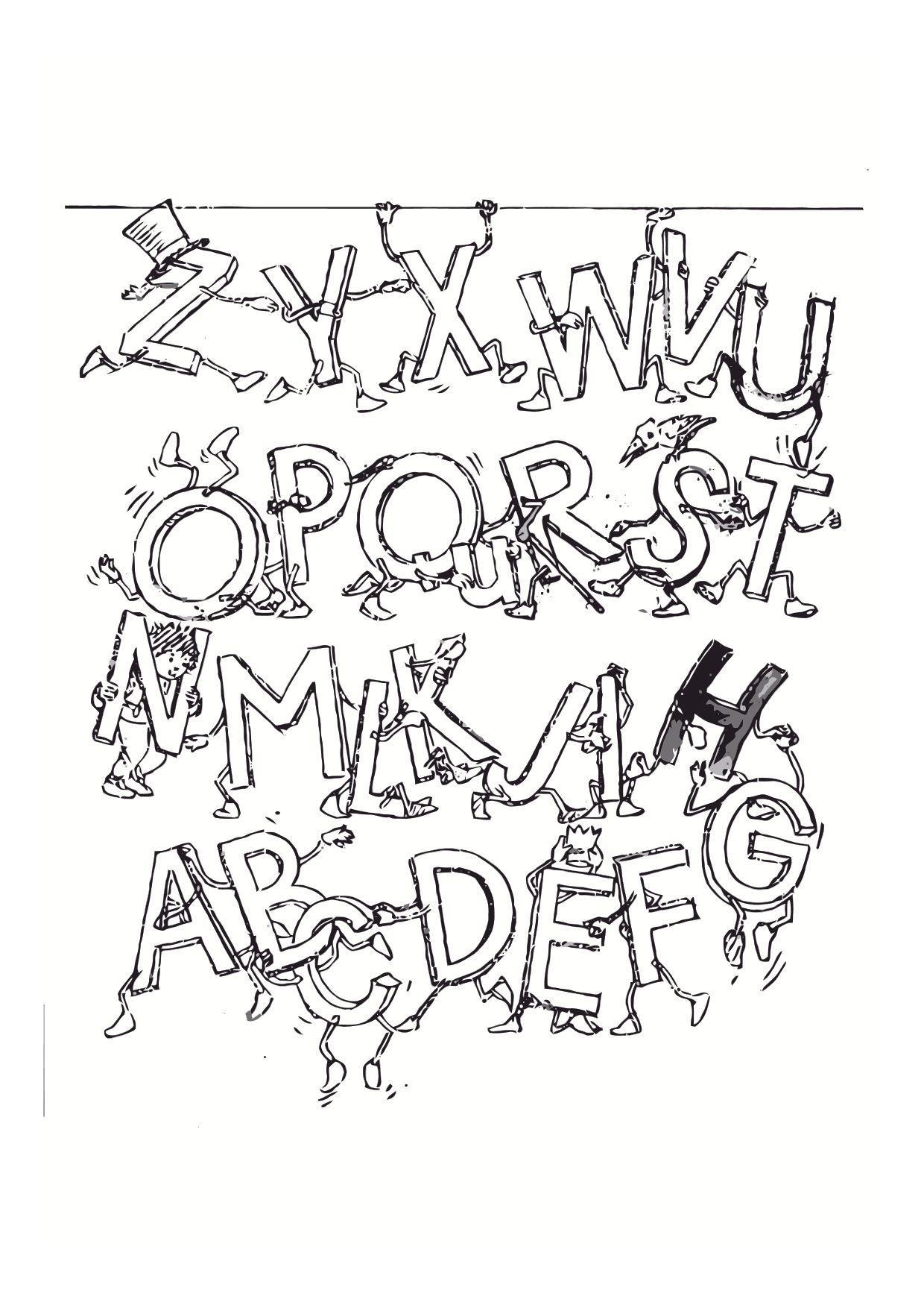 Frais Dessin à Colorier Alphabet Animaux