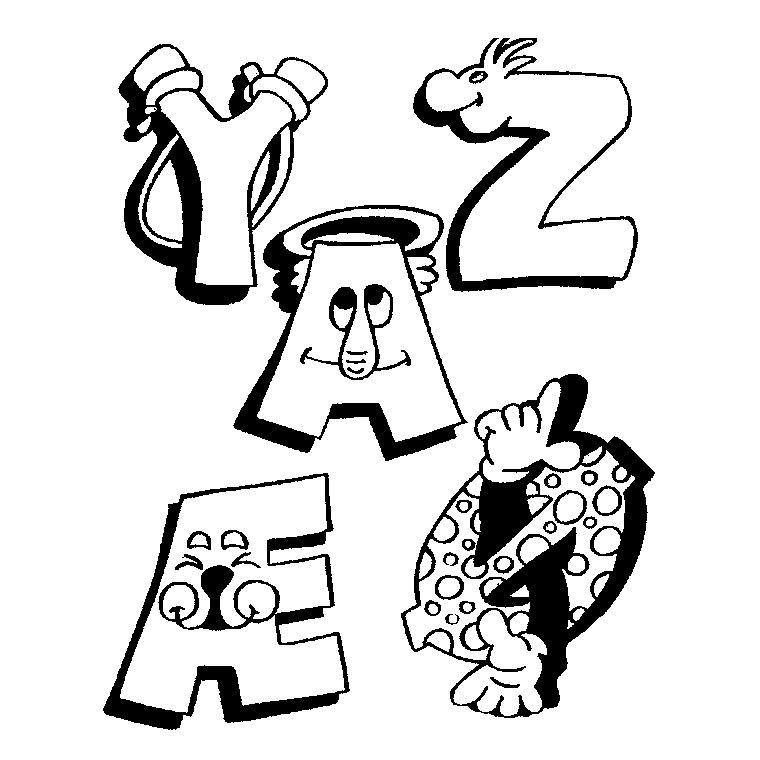 Lettre de l 39 alphabet coloriage dessiner - Dessiner l alphabet ...