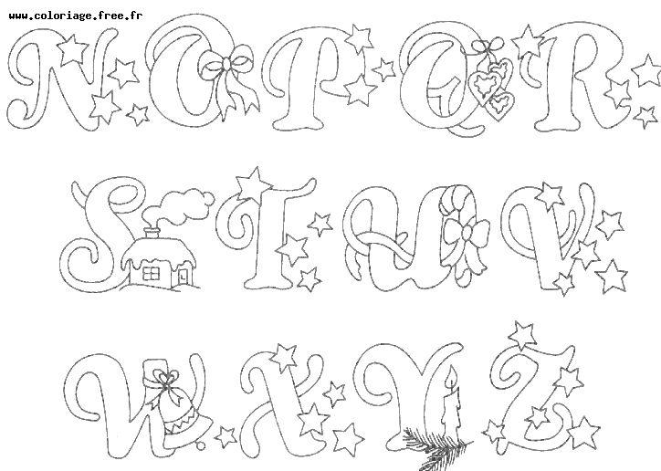 Dessin colorier alphabet fleurs - Dessin alphabet ...
