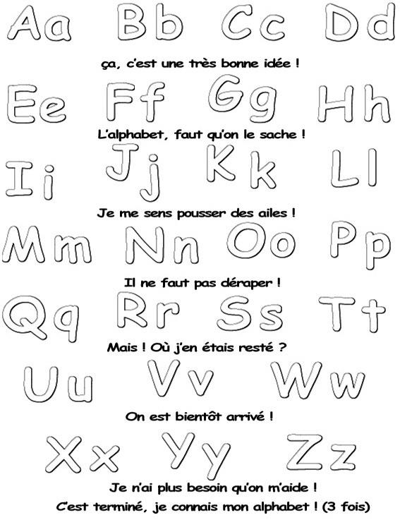 Coloriage Alphabet A Relier